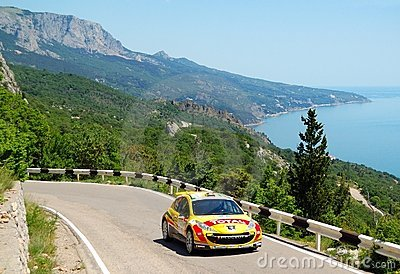 Thierry Neuville on IRC Yalta Rally 2011 Editorial Stock Image