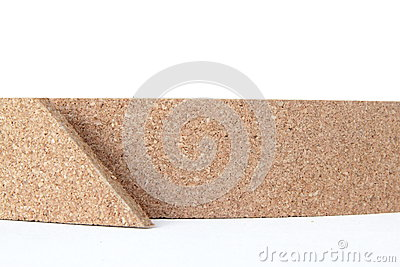 Thin cork roll closeup