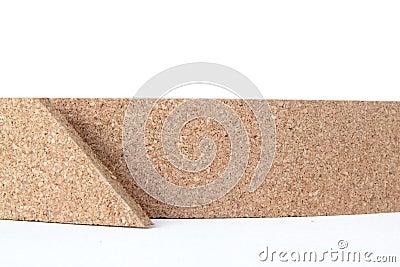 Thin cork roll closeup