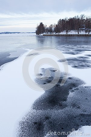 Free Thin Ice At Lake Stock Image - 33349591
