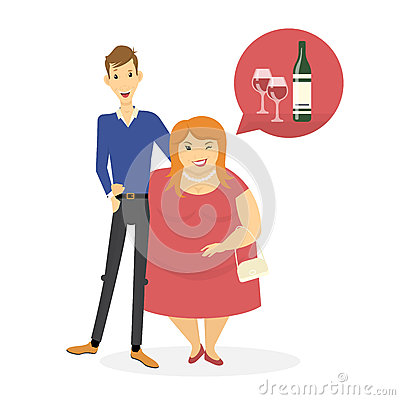 Skinny guy and fat girl dating