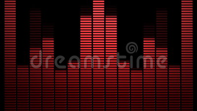 Thin Red VU Meters. With light effect vector illustration