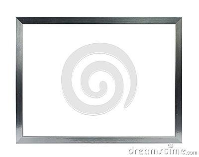 simple metal frame  Simple silver metal frame on