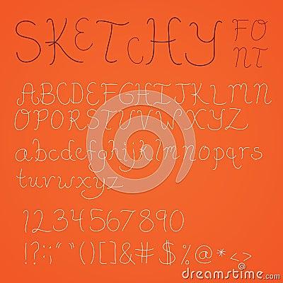 Thin Sketchy Font