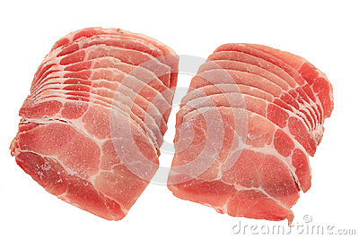 Thin Slices Of Raw Beef