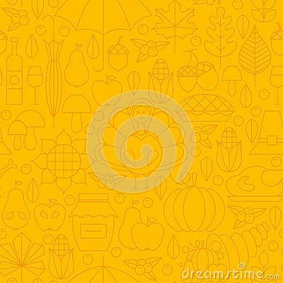Free Thin Thanksgiving Dinner Line Holiday Seamless Yellow Pattern Stock Image - 59484961