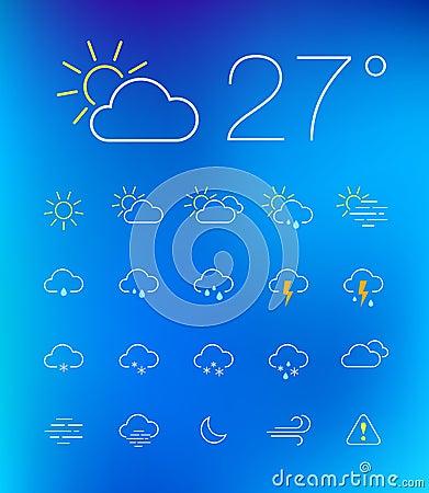 Free Thin Weather Icon Set Stock Image - 33397201