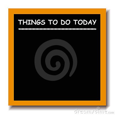 Things to do black board