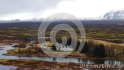 Thingvellir в Исландии 4K видеоматериал