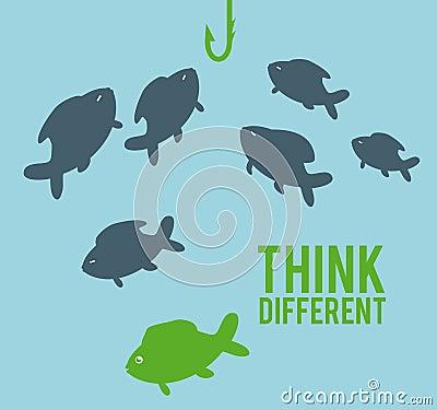 Think different Cartoon Illustration