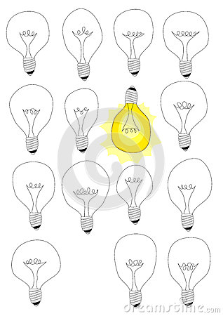 Think different idea lamps