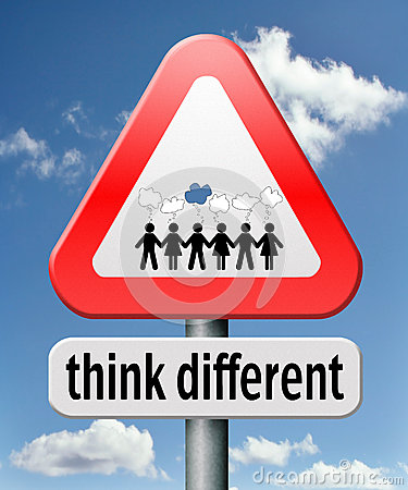 Think different Stock Photo