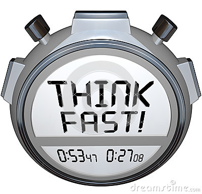 Think Fast Timer Stopwatch Quiz Answer Contest