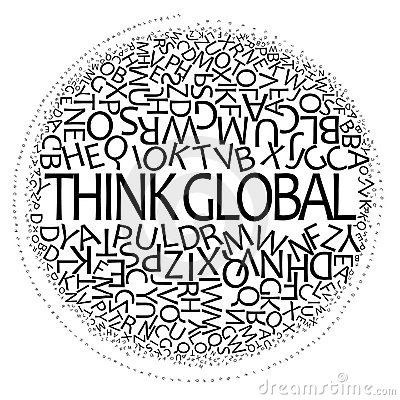 Think Global Design Royalty Free Stock Photo - Image: 9253735