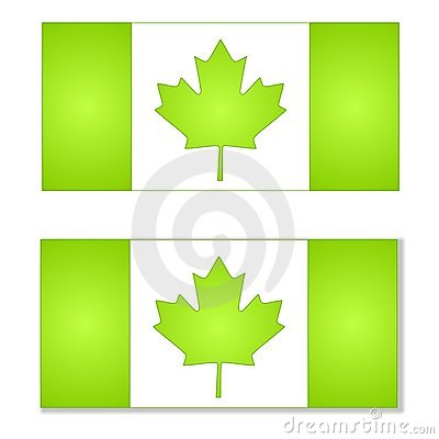 Think Green Canada Flags