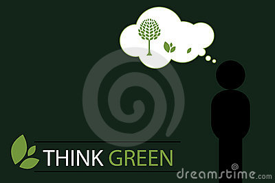 Think green concept background 2 - vector