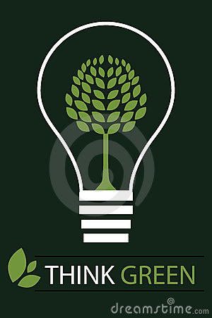 Think green concept background 3 - vector