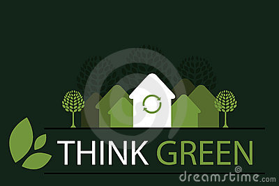Think green concept background 4 - vector