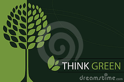Think green concept background - vector