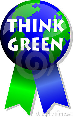 Free Think Green Earth Button/eps Royalty Free Stock Photo - 4334315