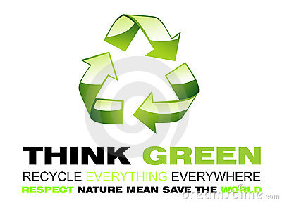 Think Green and Recycle Flayer