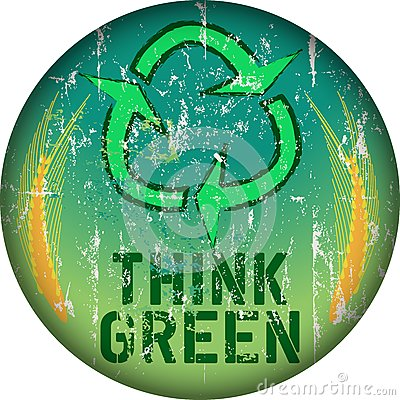 Think green sign