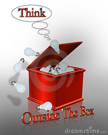 Think Outside the Box Business Slogan