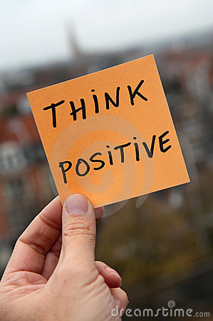 Free Think Positive Royalty Free Stock Photos - 17653048