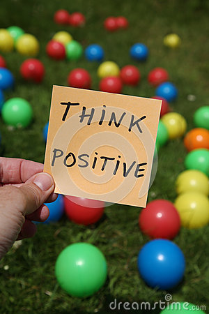 Free Think Positive Royalty Free Stock Photography - 26301657