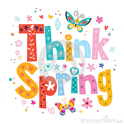 Think Spring Clip Art think spring stock photos - image: 18196153