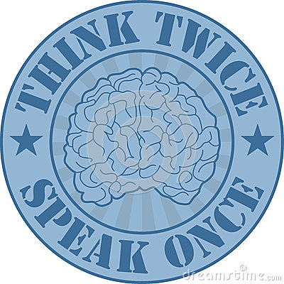 Think twice badge