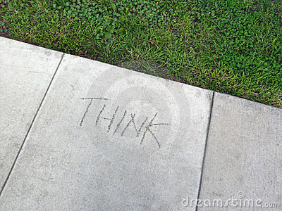 Think written in cement