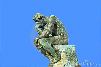 Thinker Editorial Stock Photo