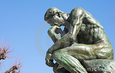 The Thinker in St Paul Editorial Stock Image