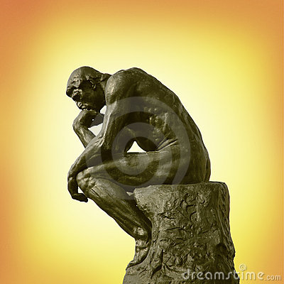 The Thinker statue Editorial Image