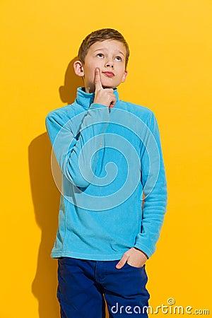 Free Thinking Boy Royalty Free Stock Image - 48870946