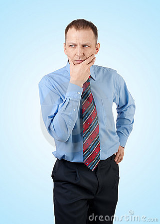 Free Thinking Businessman Stock Photography - 18164442