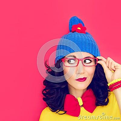 Free Thinking Funny Girl Royalty Free Stock Image - 35176656