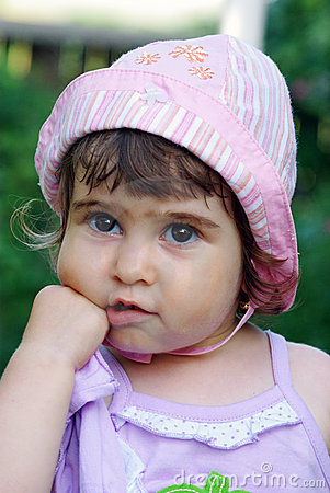 Thinking little girl