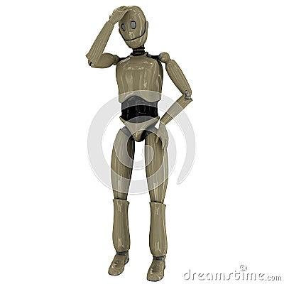 Thinking manikin robot