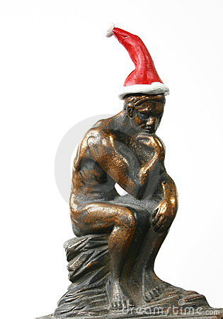 Thinking Santa