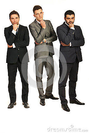 Thinking three business men