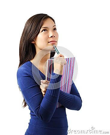 Thinking university student