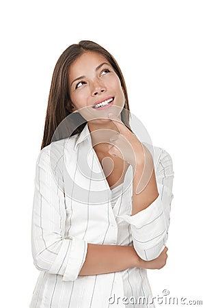 Free Thinking Woman Stock Photography - 12383342