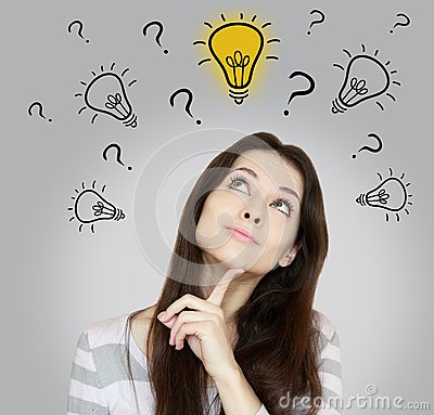Free Thinking Woman Making Dicision Stock Photography - 30820772