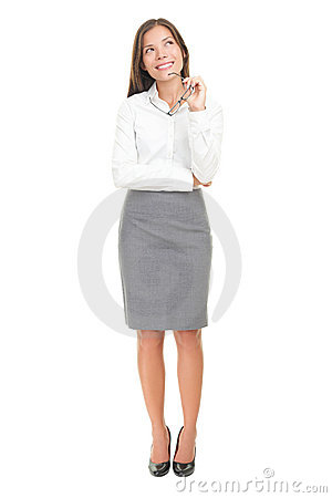 Free Thinking Woman On White Background Royalty Free Stock Photo - 17241945