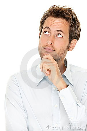 Free Thinking Young Man Royalty Free Stock Image - 18441836