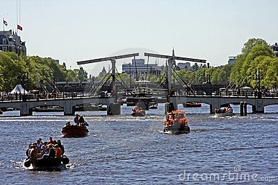 Thiny bridge in Amsterdam