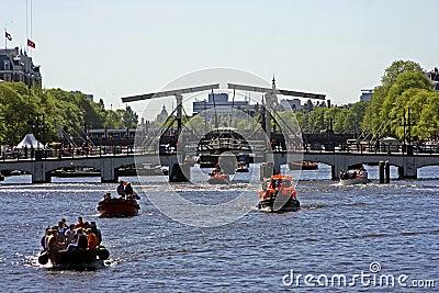 Thiny bridge in Amsterdam