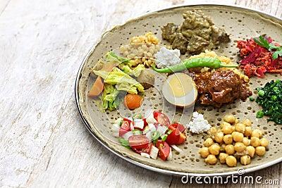 Äthiopische Küche Stockfoto - Bild: 70704024
